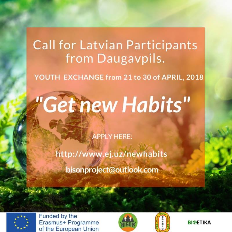 "Call for the participants for the eco project ""Get New Habits"""